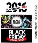 set black friday posters ... | Shutterstock .eps vector #511515661