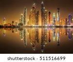 panoramic view of dubai marina... | Shutterstock . vector #511516699