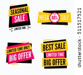 special offer sale tag discount ...   Shutterstock .eps vector #511517521