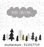merry christmas hand drawn ... | Shutterstock .eps vector #511517719
