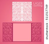 laser cut wedding invitation... | Shutterstock .eps vector #511517749