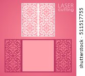 laser cut wedding invitation... | Shutterstock .eps vector #511517755