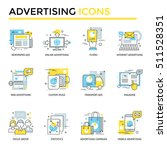 advertising icons  thin line ... | Shutterstock .eps vector #511528351