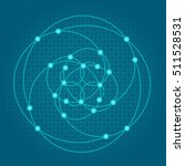 sacred geometry symbols and... | Shutterstock .eps vector #511528531