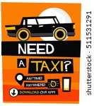need a taxi anytime anywhere... | Shutterstock .eps vector #511531291