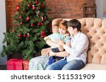 christmas family with child.... | Shutterstock . vector #511531909