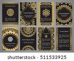 vector templates with mandala... | Shutterstock .eps vector #511533925