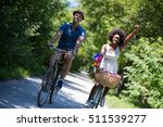 a young man and a beautiful... | Shutterstock . vector #511539277
