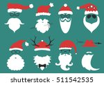 silhouette with cool beard and... | Shutterstock .eps vector #511542535
