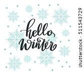 vector hand lettering   hello... | Shutterstock .eps vector #511543729