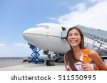 woman tourist getting out of... | Shutterstock . vector #511550995