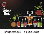 retro banner for wine list with ... | Shutterstock .eps vector #511553005