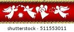 set of christmas angels | Shutterstock .eps vector #511553011