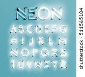 realistic neon character... | Shutterstock .eps vector #511565104