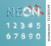 realistic neon character... | Shutterstock .eps vector #511565149