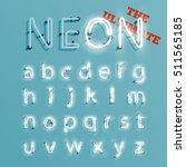 realistic neon character... | Shutterstock .eps vector #511565185