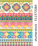 colorful tribal pattern ethnic... | Shutterstock .eps vector #511573384