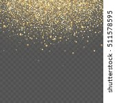 Vector gold glitter background. Star dust sparks transparent background