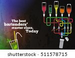 club poster on bar with a fancy ... | Shutterstock .eps vector #511578715