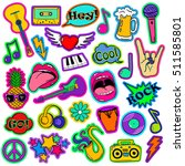 colorful fun set of music... | Shutterstock .eps vector #511585801