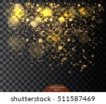 vector falling of lights... | Shutterstock .eps vector #511587469