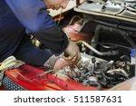worker repairs a car in a car...   Shutterstock . vector #511587631