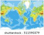 america centered physical world ... | Shutterstock .eps vector #511590379