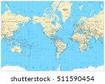 america centered world map.... | Shutterstock .eps vector #511590454