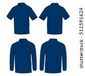 navy blue polo shirt and polo... | Shutterstock .eps vector #511591624