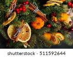 Christmas Door Wreath With...