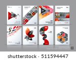 business vector set. brochure... | Shutterstock .eps vector #511594447