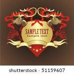 gold heraldry | Shutterstock .eps vector #51159607