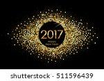 vector 2017 happy new year... | Shutterstock .eps vector #511596439