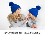 mother and the daughter with... | Shutterstock . vector #511596559