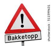 norwegian road  warning sign... | Shutterstock . vector #511599631