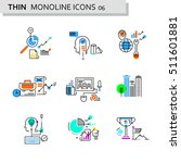 thin line flat icons pack for... | Shutterstock .eps vector #511601881