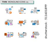 thin line flat icons pack for... | Shutterstock .eps vector #511601899
