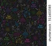 happy birthday themed seamless...   Shutterstock .eps vector #511603585
