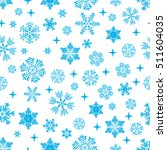 snowflake pattern on white... | Shutterstock .eps vector #511604035