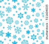 Snowflake Pattern On White...