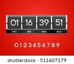 chrome countdown timer for the... | Shutterstock .eps vector #511607179