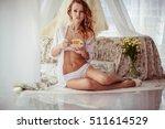 beautiful and gentle bride in... | Shutterstock . vector #511614529
