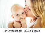 beautiful mother and her... | Shutterstock . vector #511614535