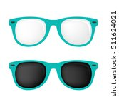 hipster turquoise color glasses ... | Shutterstock .eps vector #511624021