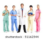 smiling medical doctors with... | Shutterstock . vector #51162544