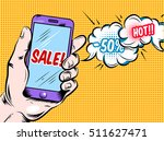 online hot sale comic style... | Shutterstock .eps vector #511627471
