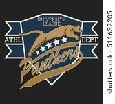 panther sport t shirt graphics  ... | Shutterstock . vector #511632205