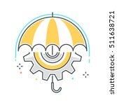 color line  risk management... | Shutterstock .eps vector #511638721