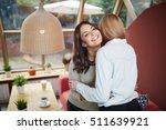 friends greeting each other | Shutterstock . vector #511639921
