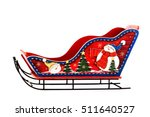 sleigh santa claus red toy... | Shutterstock . vector #511640527